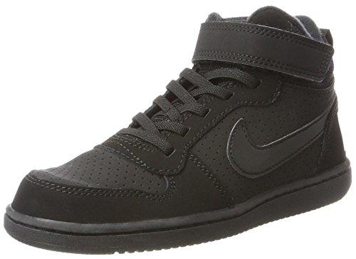 Nike Jungen Court Borough Mid (PS) Basketballschuhe, Schwarz (Black 001), 31.5 EU