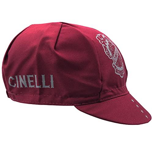 Cinelli Casquette unisexe avec écusson rouge, taille unique