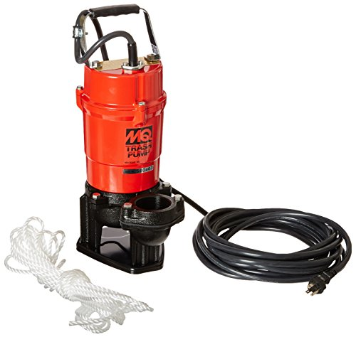 Multiquip ST2040T Electric Submersible Trash Pump with Single Phase Motor, 1 HP, 79 GPM, 2' Suction & Discharge