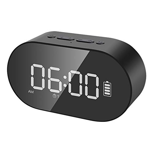 LED-scherm Digitale wekker Bluetooth 4.2 Enkele/dubbele hoorn Luidspreker Draadloze FM-radio Klankkast