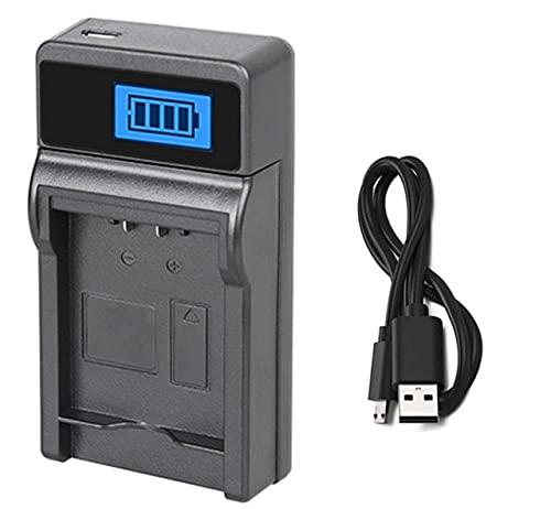 HANXIAOLONGA Cargador de batería para videocámara Panasonic HM-TA2, HM-TA20, HX-DC1, HX-DC2, HX-DC3, HX-DC10, HX-DC15, HX-WA10, HX-WA10EB-A (Color : 1x LCD USB Charger)