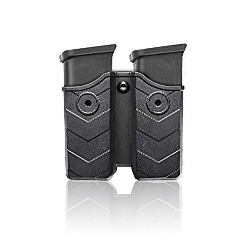 efluky Porta Caricatore Tasca Portacaricatori Porta Caricatore per Fondina Golck 17 19/Beretta 92 96 FS/CZ 75 Tactical Sports/Walther P99/Sig Sauer p226/H&K, Belt Clip 60° Regolabile