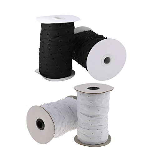 Botones de presión Dailymall de 50 Yardas, Cierre de presión, Invisible, de Resina, para Costura, nociones y Suministros de Costura, Juego de 4 Piezas