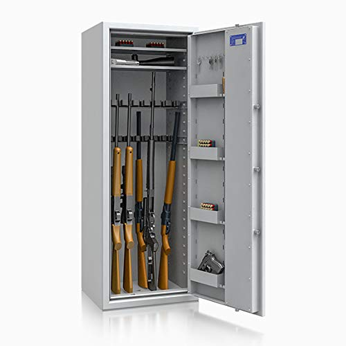 Waffenschrank Waffentresor EN 1143-1 Klasse 0 ECBS 16 Waffenhalter mit Elektronikschloss Zahlenschloss