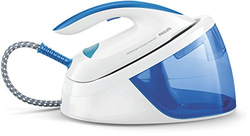 Philips Perfect Care Compact Essential Steam Generator Iron, White/Blue, GC6804/20