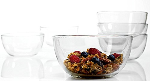 Anchor Hocking Presence 6 Inch Glass Cereal Bowl, Set of 6