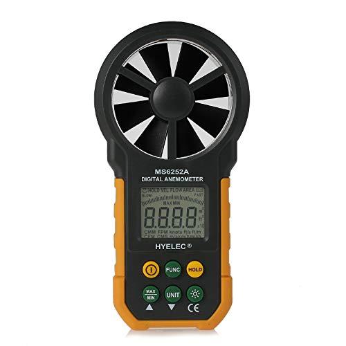 MS6252A Misuratore di velocità del vento digitale anemometro di misurazione del volume dell'aria