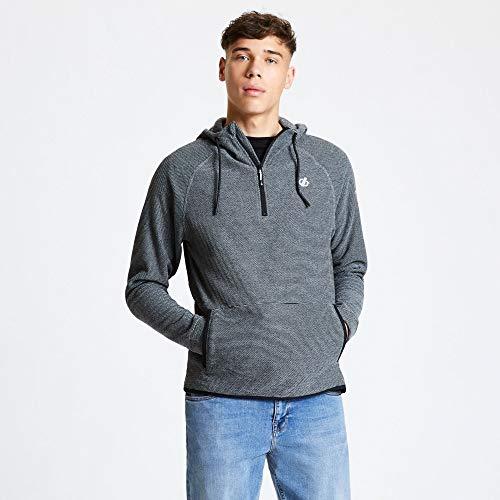 Dare 2b Herren DMA443 3R850 Forgo' Half Zip Kangaroo Pocket Grid Fleece-Jacke, Aluminium Grau, Größe S