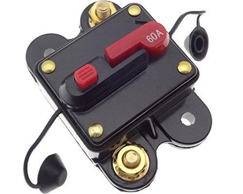 Preisvergleich Produktbild 60 A Automatische Sicherung Automat Automatik Schalter Auto KFZ LKW Boot 12 / 24V