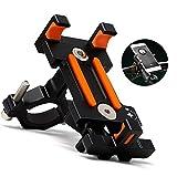 Yeemg Soporte para Teléfono Móvil Universal Ajustable Bicicleta Teléfono Móvil Soporte de Aleación de Aluminio Clip de Horquilla para iPhone, Huawei, Samsung y Otros Teléfonos Inteligentes (Negro)