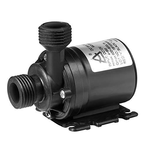 UEETEK Pompa ad Acqua sommergibile brushless DC 12V 800L / H 5M per Il Sistema di circolazione Solare Sistema di circolazione Acqua