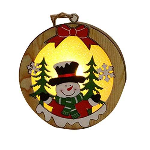 SUPERLOVE Dekoration Innovative Leuchtende Weihnachtsbaum Anhänger Aus Holz LED Ornament Urlaub Dekoration Für Fenster Weihnachtsbaum Wohnzimmer