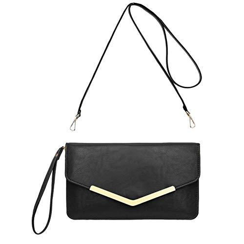 avis classement mascara professionnel CRAZYCHIC – Grand et long portefeuille style simili cuir – Pochette enveloppe pour femme – Sac miniature…