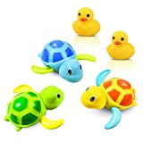 Yojoloin Baby Bathing Bath Vasca da Bagno Pool Toy, Baby Bathing Clockwork Turtle Anatra B...