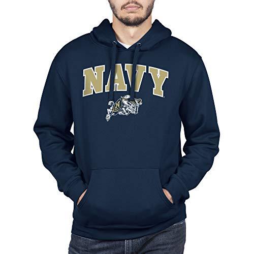 NCAA Navy Men's Team Color Hoodie Sweatshirt, Large, Blue