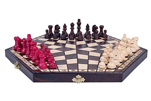 KADAX - Schach in Braun, Größe 40 x 35 cm