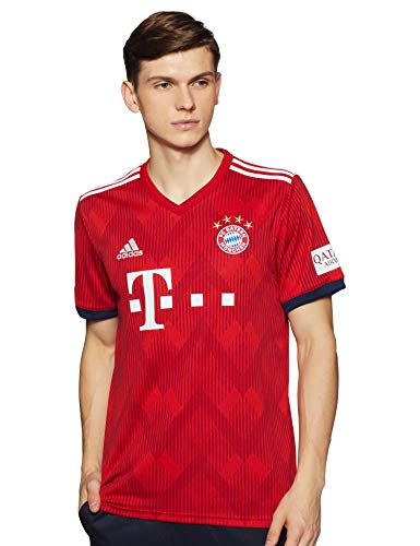 adidas Herren H JSY T-Shirt, FCB True red/Strong red f11/White, L