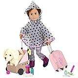 Our Generation-BD37989C1Z Accesorios para muñecas, Perros de Peluche, Color carbón (BD37989C1Z)