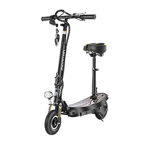 JYXJJKK Bicicleta Plegable Electric Scooter 24V 350W Puede Ejecutar 35 km/h Motor Plegable Smart Electric Scooter City City City Coche con Luces LED y exhibición, Adecuado para Carreteras Planas urb