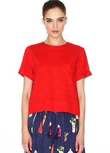 Pepaloves - Eliana Top, Mujer, Rojo (Red), L