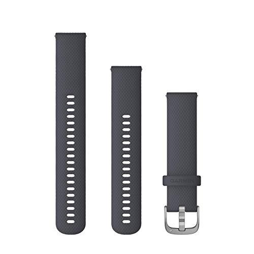 Armband Venu, 20 mm, Silikon, Granit, Schnalle, silberfarben