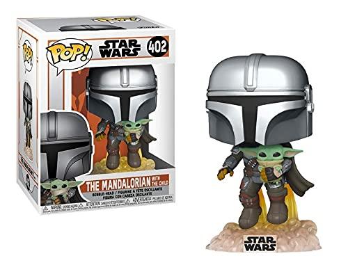 Star Wars Mandalorian - Boneco Pop Funko The Mandalorian with The Child Baby Yoda #402