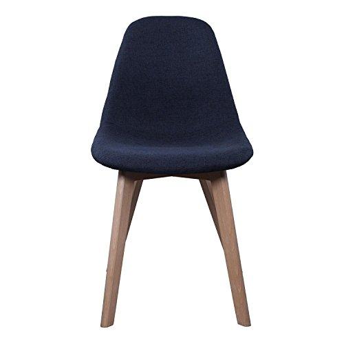 AC-Déco Chaise scandinave - Tissu - Noir