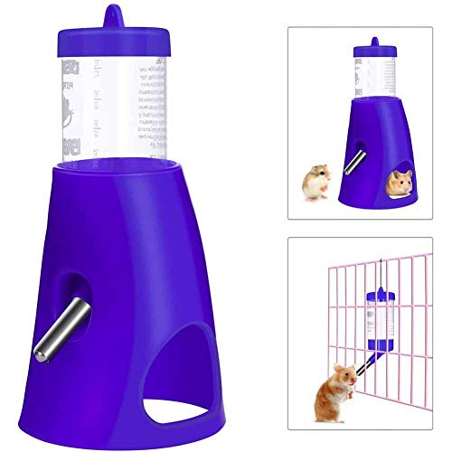 JKGHK Animal Pequeño Botella De Agua Comedero para Dispensador De Mascotas para Escondite 2 En 1 con Base De Plástico para Hámster Enano