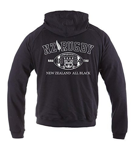 Dirty Ray Rugby New Zealand All Black Herren Übergangs Sommer Hoodie BL2 (XXL)