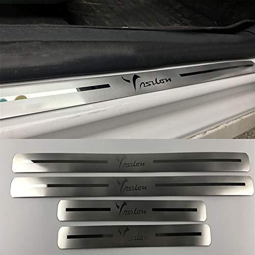 4 Pezzi/Set Piastra Anticalcare per Pedaliera in Acciaio Inossidabile Ultrasottile per Lancia Chrysler Ypsilon