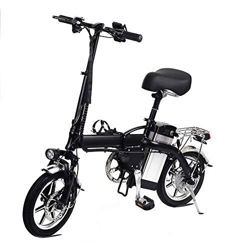 Lamtwheel Bicicleta Eléctrica De La Ciudad Plegable De La Bicicleta, Bicicleta Eléctrica Ebike con Motor Sin Escobillas 350W Y Batería...