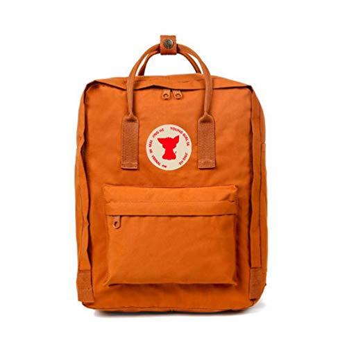 DDDWWW Fox Handbag Mini Leisure Small Backpack Girl Fashion College Style School Bag Lady Travel Bag 7L Brick Yellow
