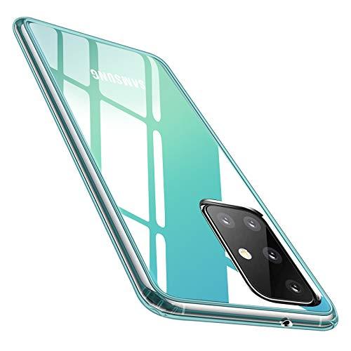 Whew Crystal Clear Samsung Galaxy A51 Hülle (4G), Transparent Vergilbungsfrei Ultra Dünn Handyhülle Hardcase Hard PC Back & Soft Silikon Hülle Durchsichtig Schutzhülle Kratzfest Stoßfestigkeit Cover