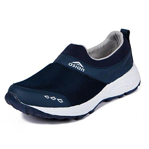 Asian shoes BLUE Canvas Men Shoes