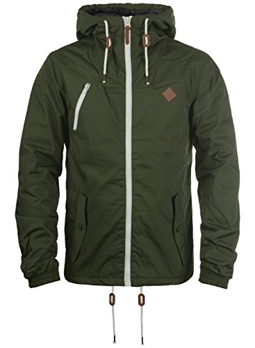 !Solid Tilden Herren Übergangsjacke Herrenjacke Jacke gefüttert mit Kapuze, Größe:XL, Farbe:Climb Ivy (3785)