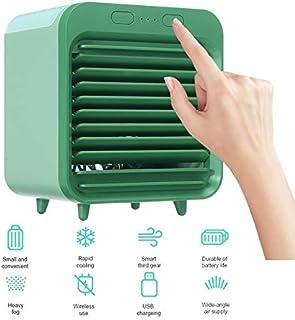 Undersea USB Aire Acondicionado Portátil, 3 En 1 Ventilador Aire Acondicionado, Humidificador, 3 Velocidades, para El Hogar/Oficina/habitación Verde