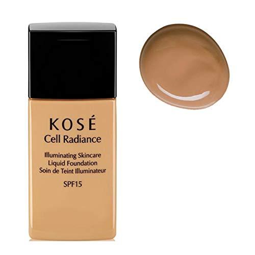 Kose Cell Radiance Spf15 Illuminating Skincare Liquid Foundation 203 Deep Beige