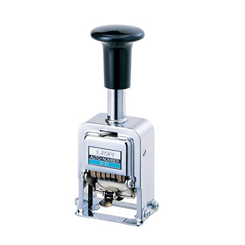 Lion Pro-Line Heavy-Duty Automatic Numbering Machine, 5-Wheel, 1 Numbering Machine (D-51)