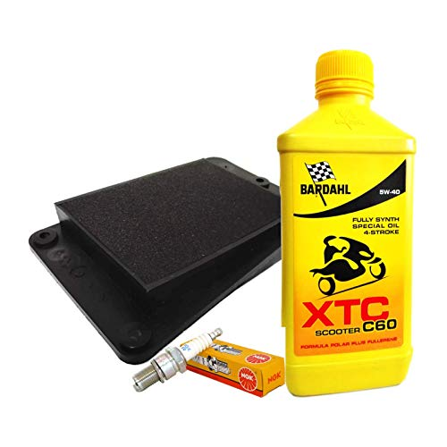 Tecneco Kit Bardahl XTC 5 W40 Huile Filtre air bougie sYM joyride 125 150 200