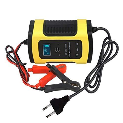 LeftSuper Cargador de batería Cargador de batería de Coche Automóvil Motocicleta Reparación de Pulso Inteligente 12V 5A LCD Dispositivo de Carga de batería de Motocicleta