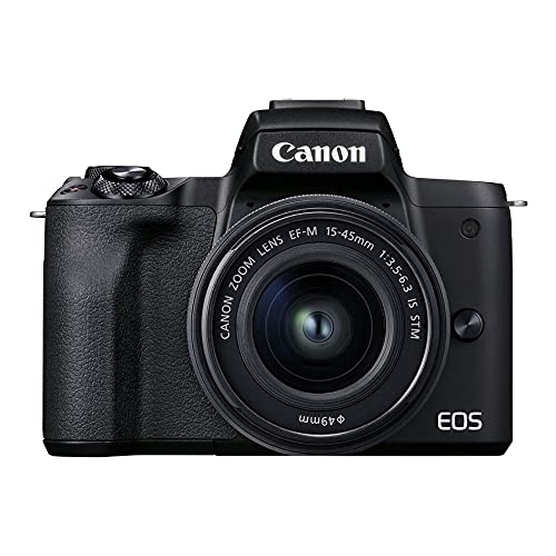 Câmera Fotográfica EOS M50 Mark II EF-M 15-45mm Canon Preto