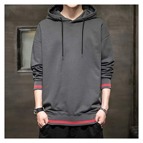 BXBX Sudaderas con Capucha de Primavera de otoño para Hombre Negro Suelto punkover Streetwear Ropa de Moda Casual de Moda de Gran tamaño 406 (Color : Dark Gray, Size : XX-Large)