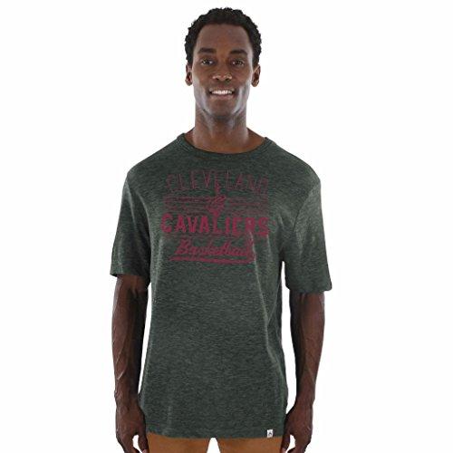 NBA hombres de Cenicienta gana heathered Hyper Slub T-Shirt, Cleveland Cavaliers, XXL, Carbón