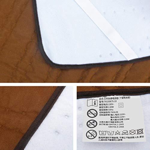 Manta eléctrica para Control por una Sola Persona Manta térmica Protección contra sobrecalentamiento Café