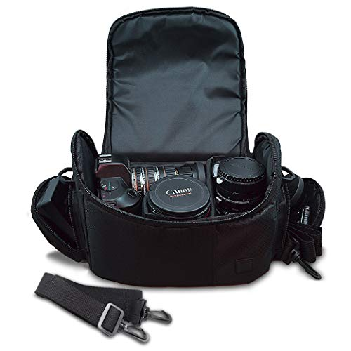 Medium Soft Padded Camera Equipment Bag/Case for Nikon, Canon, Sony, Pentax, Olympus Panasonic,...