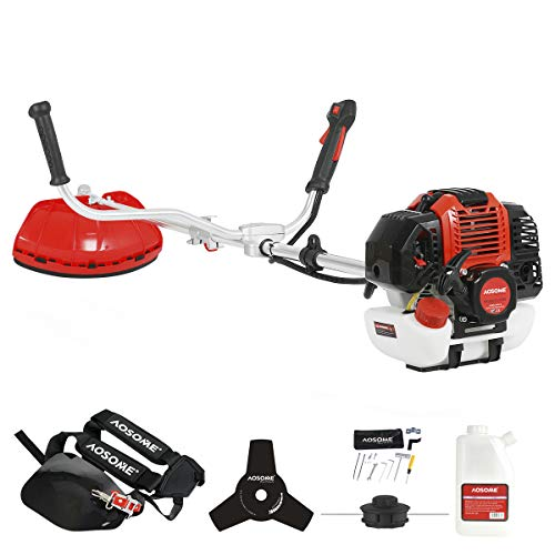 AOSOME 52cc Petrol Grass Trimmer Garden Heavy Duty Brush Cutter 2 stroke 2.2kw 3HP Easy Starter