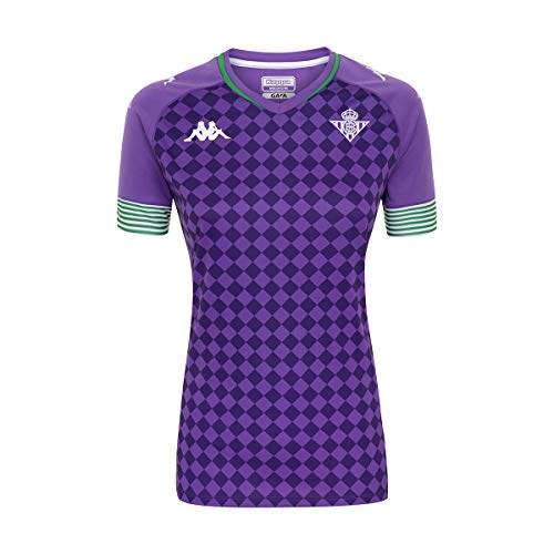 Kappa Segunda Equipación Camiseta, Mujer, Violeta/Verde/Blanco, L