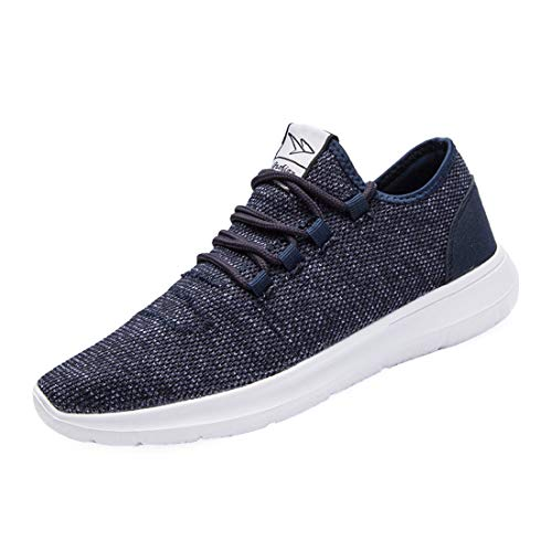 Srenket Mens Casual Athletic Sneakers Comfortable Running Shoes Light Tennis Zapatos Footwear for Men Walking Workout Blue43