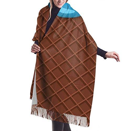 AOOEDM Waffeleis Kaschmir Schal Schal Mode Warme Wolle Wickel Schal Winter Stola Für Frauen
