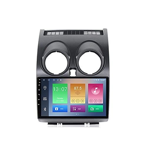 MGYQ Android Radio Coche para Nissan Qashqai 2006-2013 con Cámara Trasera Multimedia Autoradio Soporte GPS/Bluetooth/Radio FM/Enlace Espejo/WiFi/Carplay/SWC/Dab+/OBD2,2+32g